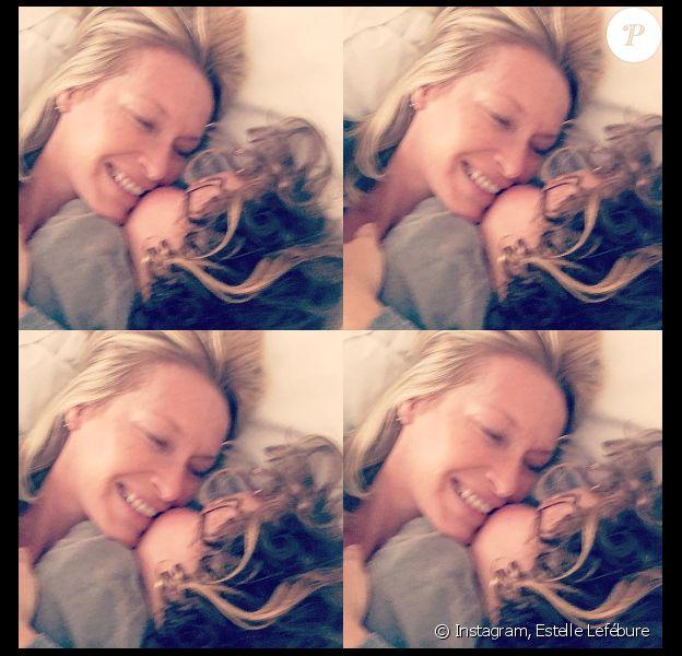 Estelle Lefébure et son fils Giuliano sur Instagram
