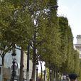 """Paris organise sa deuxième """"journée sans voiture"""" à Paris, France, le 25 septembre 2016. La Mairie de Paris a interdit la circulation sur près de 45% du territoire parisien intra-muros. © Lionel Urman/Bestimage"""