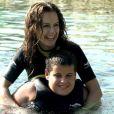 Kelly Preston, épouse de John Travolta, avec leur fils Jett