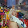 Chris Martin lors du show de la mi-temps de la finale du Super Bowl le 7 février 2016.