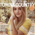 "Dakota Fanning en couverture de l'édition de novembre du magazine ""Town & Country""."