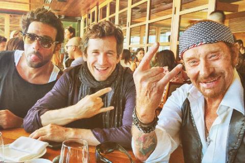 """Johnny Hallyday, Guillaume Canet et Marion Cotillard: Rock'n'roll et """"hilarants"""""""