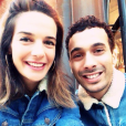 L'humoriste Mustapha El Atrassi et Ornella Fleury (soeur d'Erika des Whatfor), amoureux depuis cinq ans en 2016.