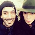 Mustapha El Atrassi et Ornella Fleury (soeur d'Erika des Whatfor), amoureux depuis cinq ans en 2016.