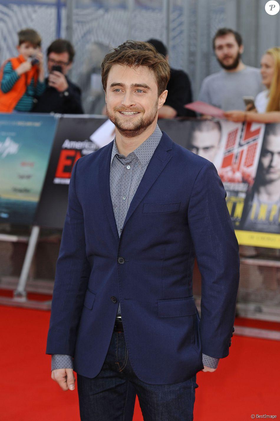 """Daniel Radcliffe aux premières de """"Swiss Army Man"""" et de """"Imperium"""" au Cineworld O2 Arena à Londres, le 23 septembre 2016"""