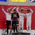 Max Verstappen, Nico Rosberg et Lewis Hamilton auGrand Prix du Japon à Suzuka. Le 9 octobre 2016. © Photo4 / LaPresse