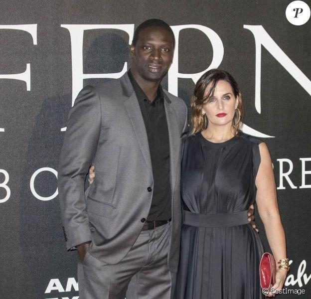 """Omar Sy et sa femme Hélène Sy à la première de """"Inferno"""" à Florence. Italie, le 8 octobre 2016. © Future-Image via Zuma Press/Bestimage"""