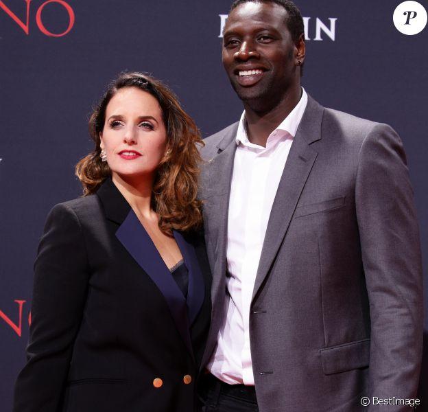 """Omar Sy et sa femme Hélène - Première du film """"Inferno"""" à Berlin. Le 10 octobre 2016"""
