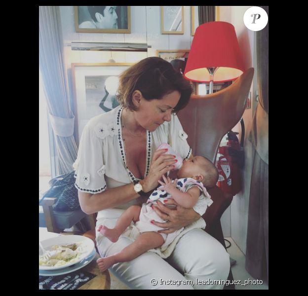 Cendrine Dominguez et sa petite fille prénommée Java. Photo publiée sur Instagram, au mois de septembre 2016