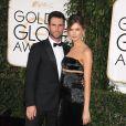Adam Levine et Behati Prinsloo assistent à la 72ème cérémonie annuelle des Golden Globe Awards à Beverly Hills, le 11 janvier 2015.