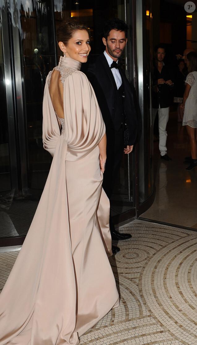 Cheryl Fernandez-Versini (Cheryl Cole) et son mari Jean-Bernard Fernandez-Versini rentrent à l'hôtel Martinez après leur soirée à Cannes le 15 mai 2015, lors du 68 ème Festival International du Film de Cannes
