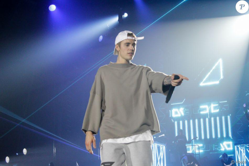 Justin Bieber en concert à Birmingham dans le cadre de son Purpose World Tour, le 17 octobre 2016
