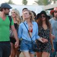 """Diane Kruger, Joshua Jackson et Nina Dobrev au 5e jour du Festival de """"Coachella Valley Music and Arts"""" à Indio Le 18 avril 2015"""