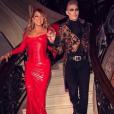 Mariah Carey et son ami Kristofer Buckle à sa soirée d'Halloween. Photo publiée sur Instagram le 24 octobre 2016