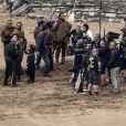 """Peter Dinklage et Kit Harington - Tournage de la série """"Game of Thrones 7"""" à Zumaia en Espagne le 24 octobre 2016."""