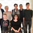 Xavier Couture, Sophie Davant, Laurence Tiennot-Herment (présidente de l'AFM-Téléthon) et Nagui à la conférence de presse du Téléthon 2016 dans les locaux de France 2 à Paris le 26 octobre 2016. © Coadic Guirec / Bestimage