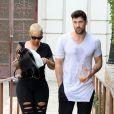Amber Rose et Maksim Chmerkovskiy quitte les studios de l'émission Dancing With The Stars, Los Angeles, le 2 octobre 2016