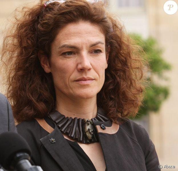 Chantal Jouanno (porte-parole de l'UDI) au palais de l'Elysée le 25 juin 2016, après sa rencontre avec François Hollande, Manuel Valls et Jean-Marc Ayrault.