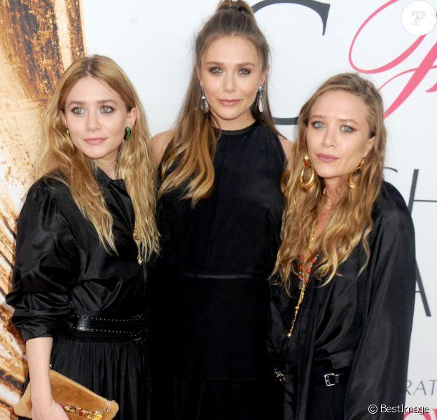Les soeurs Ashley Olsen, Elizabeth Olsen et Mary-Kate Olsen lors des CFDA Fashion Awards 2016 à New York, le 6 juin 2016.