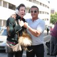 Sylvester Stallone rencontre l'acteur Mickey Rourke à Beverly Hills Los Angeles, le 17 septembre 2016