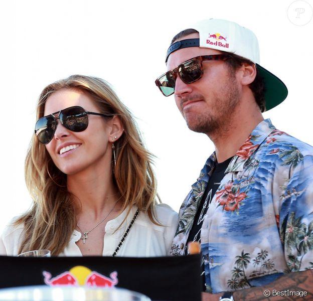 Audrina Patridge et son petit ami Corey Bohan assistent au RedBull flugtad a Miami le 3 Novembre 2012.