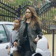 Jessica Alba emmène sa fille Honor Warren à une fête privée à Beverly Hills, le 30 octobre 2016