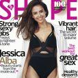 """Jessica Alba en couverture du magazine """"Shape"""", octobre 2016"""