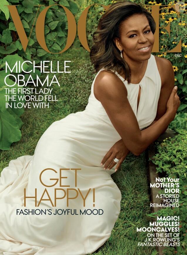 """Michelle Obama en couverture de l'édition américaine du magazine """"Vogue"""", édition de décembre 2016"""