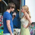 Chase Crawford avec Blake Lively sur le tournage de Gossip Girl