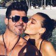 April Love Geary en vacances avec Robin Thicke le 14 novembre 2016