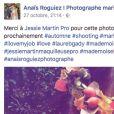 Tiffany de Mariés au premier regard lors d'un shooting de mariage automnal dirigé fin octobre 2016 par Anaïs Roguiez au château de Grouchy (Val d'Oise), avec Justin, un autre participant de l'émission.
