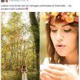 Tiffany de Mariés au premier regard lors d'un shooting de mariage automnal réalisé par Anaïs Roguiez. Image d'une publication Facebook de la photographe.