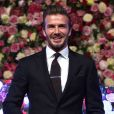 David Beckham lors d'une nouvelle édition du Global Gift Gala à l'hôtel Corinthia à Londres, le 19 novembre 2016.