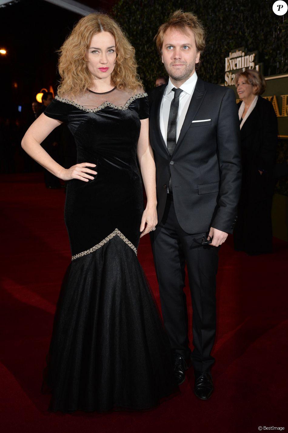 Marine Delterme et son mari Florian Zeller à la soirée 'Evening Standard Theatre Awards' à Londres, le 22 novembre 2015