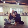 Karine Ferri partage une belle complicité avec Yann-Alrick Mortreuil dans Danse avec les stars - Photo publiée sur Instagram en novembr