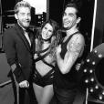 Karine Ferri avec Yann-Alrick Mortreuil et Christophe Licata dans Danse avec les stars - Photo publiée sur Instagram en novembre.