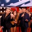 Karine Ferri après sa prestation dans  Danse avec les stars  le 19 novembre 2016, sur TF1.