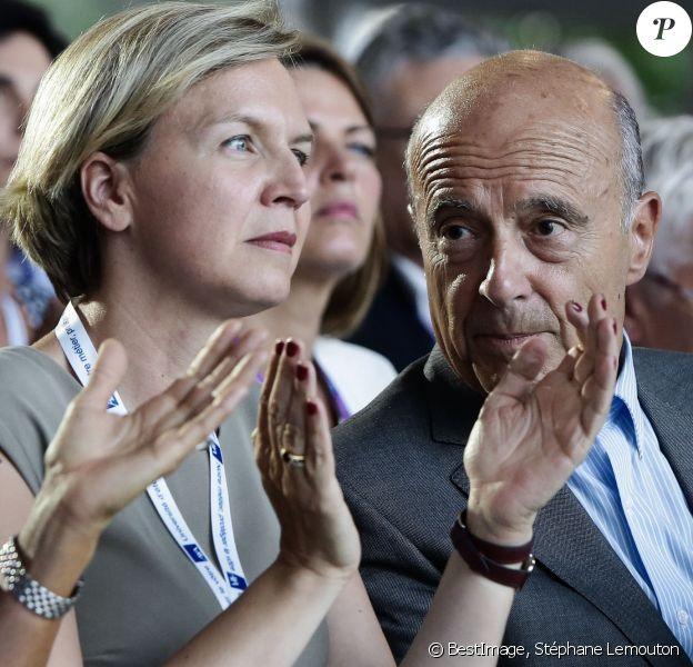 Virginie Calmels, Alain Juppé - Université d'été du Medef, Jouy-en-Josas, le 31 aout 2016. © Stéphane Lemouton/Bestimage