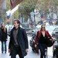 Heidi Klum et son compagnon Vito Schnabel à Paris, le 21 octobre 2016.