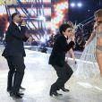 Josephine Skriver (tenue décorée de 450 000 cristaux Swarovski), Bruno Mars - Défilé Victoria's Secret Paris 2016 au Grand Palais à Paris, le 30 novembre 2016. © Cyril Moreau/Bestimage