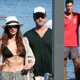 Gerard Butler et sa compagne Morgan Brown arrivent à Ischia pour le festival du film le 11 juillet 2016