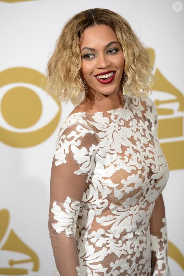 Beyoncé aux Grammy Awards, le 26 janvier 2014 à Los Angeles.