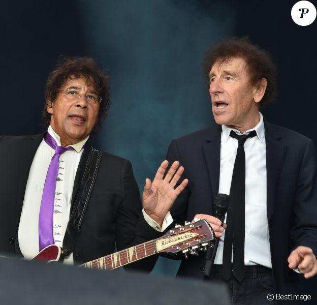 Concert de clôture avec Alain Souchon et Laurent Voulzy - Fête de l'Humanité à la Courneuve le 10 septembre 2016.