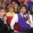 """Alain Souchon et Laurent Voulzy - Enregistrement de l'émission """"Vivement Dimanche"""" à Paris le 28 octobre 2015"""