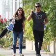 Exclusif - Alexa Vega enceinte à la sortie de chez son dentiste avec son mari Carlos Pena à Los Angeles, le 18 novembre 2016 © CPA/Bestimage