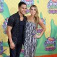 """Alexa Vega et son mari Carlos Pena à la 27ème cérémonie annuelle des """"Kid's Choice Awards"""" à Los Angeles, le 29 mars 2014."""