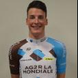 Etienne Fabre,  jeune cycliste d'AG2R, décédé le 10 décembre 2016. Photo publiée sur Facebook le 21 janvier 2016.