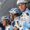 Romain Bardet rend hommage à Etienne Fabre, jeune cycliste d'AG2R, décédé le 10 décembre 2016. Photo publiée sur Twitter le 11 décembre 2016.