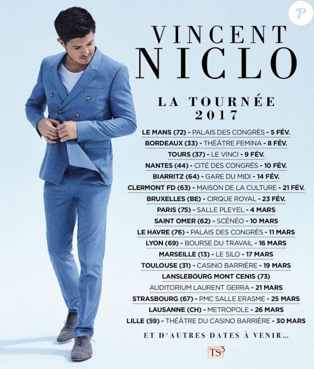 Vincent Niclo en tournée dans toute la France en 2017