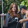 """Exclusif - Rebecca Mader - Tournage de la saison 6 de la série """"Once upon a time"""" à Vancouver le 25 août 2016."""